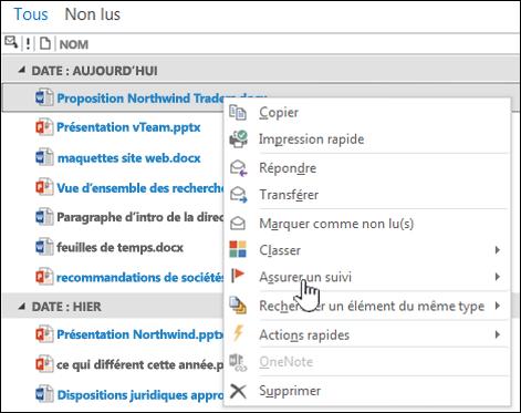 Transfert d'un document à partir de la boîte aux lettres de site