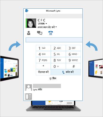 Lync के उपयोग से ऑनलाइन मीटिंग