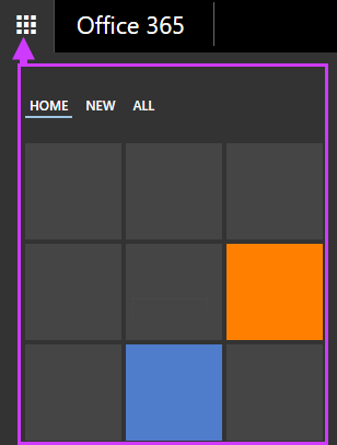 Office 365 नेविगेशन विकल्प