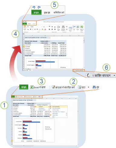 Excel Web App एक नज़र में