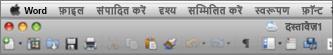 Word for Mac 2011 का मुख्य UI