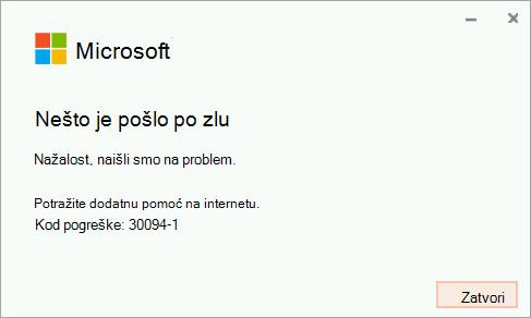 Error code 30094-4 installing Office