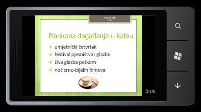 PowerPoint Mobile 2010 za Windows Phone 7: uređivanje i prikaz na telefonu