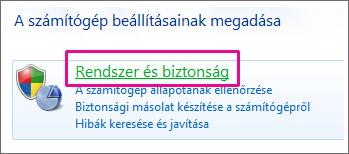 A Windows 7 Vezérlőpult