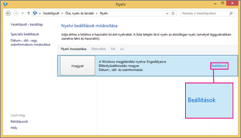 Office 2016 – Beviteli módok beállításai a Windows 8-ban