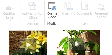 Video online di dokumen Word