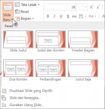 Tata Letak Slide di PowerPoint.