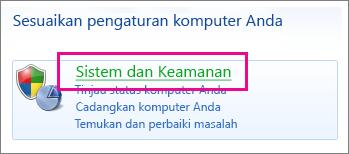Panel Kontrol Windows 7