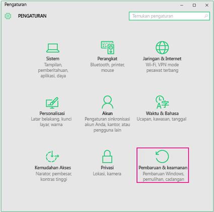 Menyetel Pembaruan Windows di Windows 10