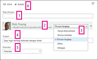 Berbagi Kalender di Office Web App