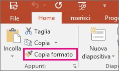 Pulsante Copia formato in PowerPoint