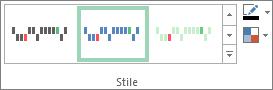 Stili nella scheda Progettazione degli strumenti grafici sparkline