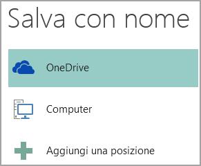 Screenshot dell'opzione Salva con nome in Publisher.