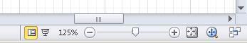 Spostamento in un diagramma mediante l'utilizzo degli strumenti nella barra di stato