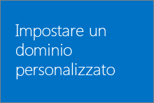 Impostare un dominio personalizzato in Office 365