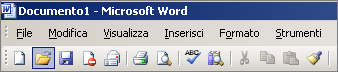 Menu principale in Word 2003