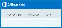 Schermata delle schede predefinite per la personalizzazione di un sito Web pubblico in SharePoint Online
