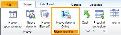 Immagine della barra multifunzione di Outlook