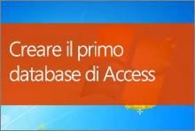 Creare il primo database di Access 2013