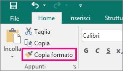 Pulsante Copia formato in Publisher