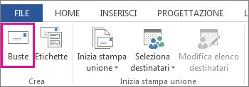 Stampare buste