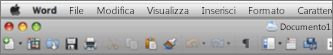 Interfaccia utente principale in Word per Mac 2011