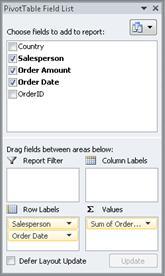 Finestra di dialogo Nuovo elemento grafico dati che contiene due campi dati e una forma con un elemento grafico dati che contiene questi campi come callout
