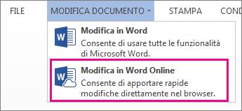 Immagine del comando Modifica in Word Web App