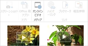 Word 文書内でのオンライン ビデオ