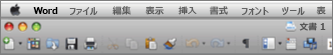 Word for Mac 2011 のメイン UI