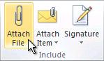 리본 메뉴의 파일 첨부 명령