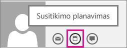 """Susitikimo planavimo mygtukas """"Outlook Web App"""""""