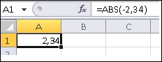 Formulė rodoma formulės juostoje