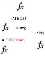 Excel funkcijos
