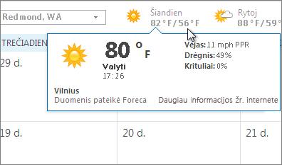 Orų prognozės juosta