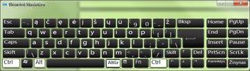 ekrano klaviatūra su rusų kalbos kirilicos rašmenimis