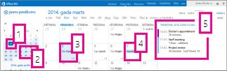 Kalendāra mēneša skats