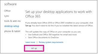 Sediakan aplikasi desktop anda untuk berfungsi dengan Office 365