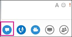 Petikan skrin tetingkap pemesejan segera dalam mesyuarat