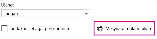 Mesyuarat Dalam Talian Outlook Web App