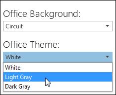 Memilih Tema Office yang berlainan