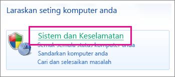 Panel Kawalan Windows 7