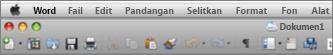 UI Utama untuk Word for Mac 2011