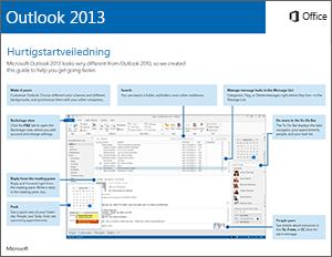 Hurtigstartveiledning for Outlook 2013