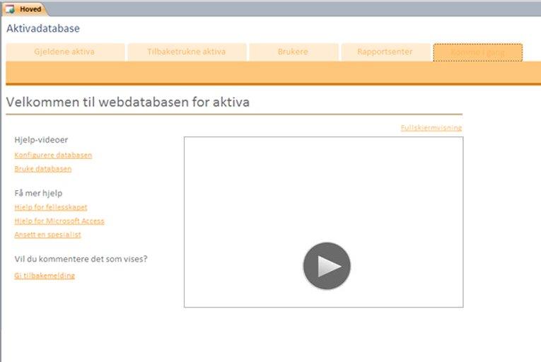 Webdatabase for aktiva