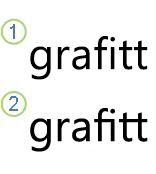 Tekst med ligaturer