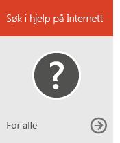 Søk i hjelpen på Internett (for alle)