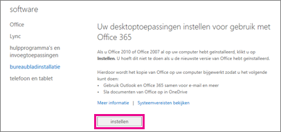 Uw bureaubladtoepassingen instellen voor gebruik met Office 365