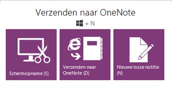Het hulpmiddel Verzenden naar OneNote