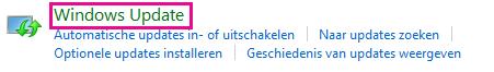 De koppeling Windows Update in het Configuratiescherm van Windows 8